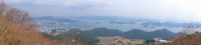 View from Tongyeong Ropeway - Mt. Mireuksan
