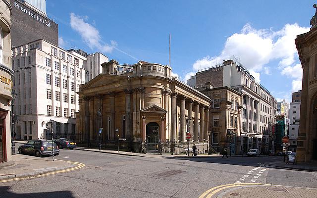 Former Birmingham Banking Company Building (by Rickman and Hutchinson 1830), Waterloo St Birmingham