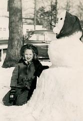 Nancy and Her Snowwoman, December 1951