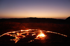 Sunrise by a Lava Lake