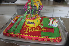 HAPPY FIFTEENTH BIRTHDAY..... youngest G Daughter.... where have the years gone.  (   I posted her 5th cake recently :  )
