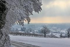 Winter in Oberschwaben  (PIP + note)