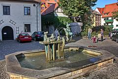Erfurt, Märchenbrunnen auf dem Archehof
