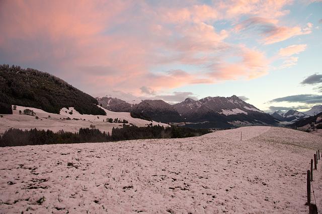 Qui dit que la neige soit blanche ? (Photo sans retouche.)