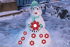 The first Snow Woman  in Town