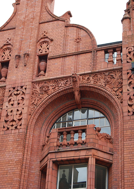 Detail of former National Telephone Company Building, Nos 17-19 Newhall Street, Birmingham (Designed by Frederick Martin 1896)