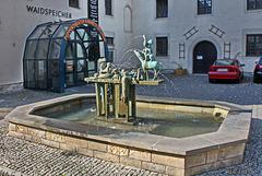 Erfurt, Waidspeicher und Märchenbrunnen
