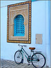 Kairouan : prima la porta , ora la finestra e la bicicletta