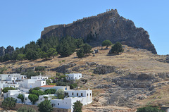 Rhodes, The Fortress of Lindos and Ruins of Medival Amphitheater