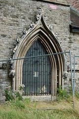 Derelict Church of Saint John the Divine, Liverpool. Merseyside