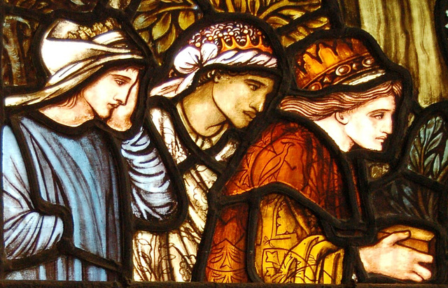 Detail of Sir Edward Burne-Jones Stained Glass, St  Martin's Church, Birmingham