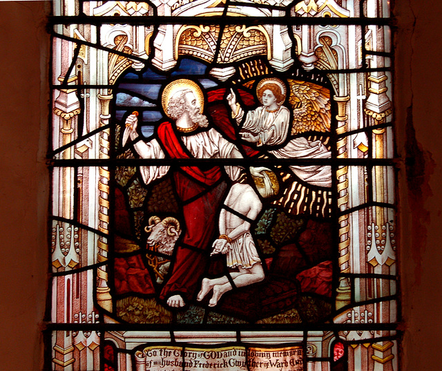 Detail of Stained Glass, Nave, St Margaret's Church, Ward End, Birmingham