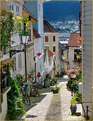 Bergen - uno scorcio del centro - (438)