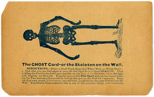 The Ghost Card, or the Skeleton on the Wall
