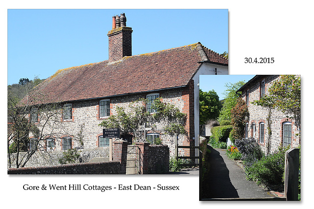 Gore and Went Hill Cottages - East Dean - Sussex - 30.4.2015