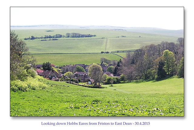 Hobbs Eares to East Dean - Sussex - 30.4.2015