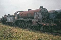30828 at Woodhams scrapyard in Barry - 1972
