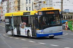 Leipzig 2015 – Bus 12260 to Thekla turning a corner