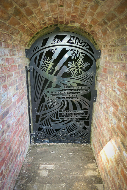 Entrance to the restored Ice house.. 'Hardwick hall'