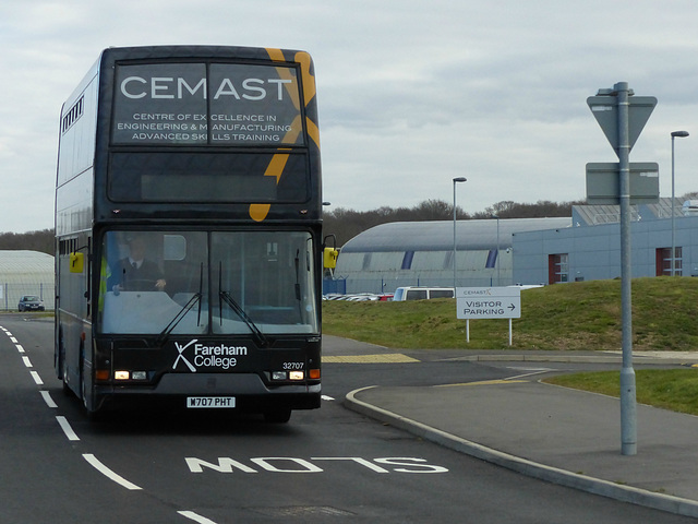 First 32707 leaving CEMAST  - 21 March 2016