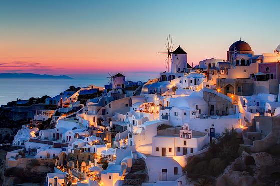 Coucher de Soleil sur Santorin-Oia (Grèce)