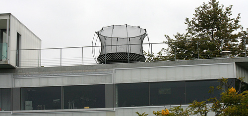 Trampoline on a roof deck (7488)