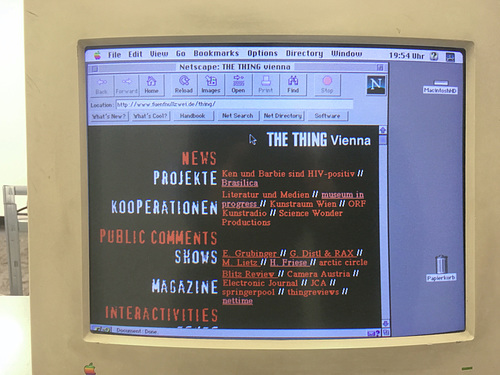 Rekonstruktion The Thing Vienna auf Netscape 2.02 // bildschirm 7208