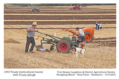 04 Trusty horticultural tractor 1943 - Trusty plough - Andy Ford