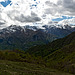 A season of strong contrasts - View of the mountains of Cervo Valley from Alpe Musin 1445 m