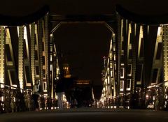 Nacht-Lichter in Frankfurt - am Eisernen Steg