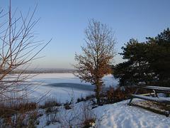 Steinberger See im Winter
