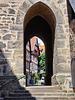 Alsfeld, Durchblick an der Kirche