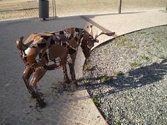 Goat sculpture.