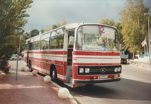 Transportes Menorca SA (TMSA) 12 (PM 2756 J) - Oct 1996 332-17