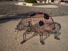 Ladybug sculpture.