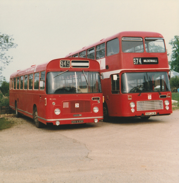 Eastern Counties DRX 630K and RAH 261W - June 1983