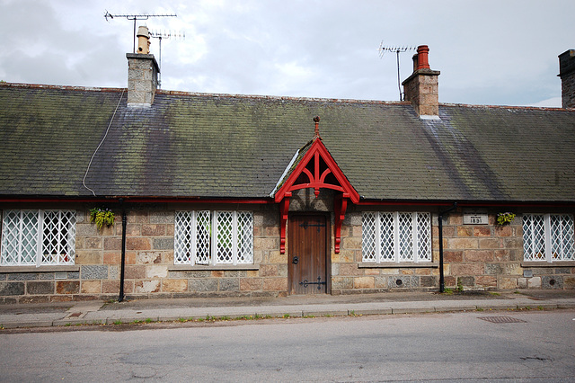 A typical nineteenth century estate workers cottage, Monymusk, Aberdeenshire