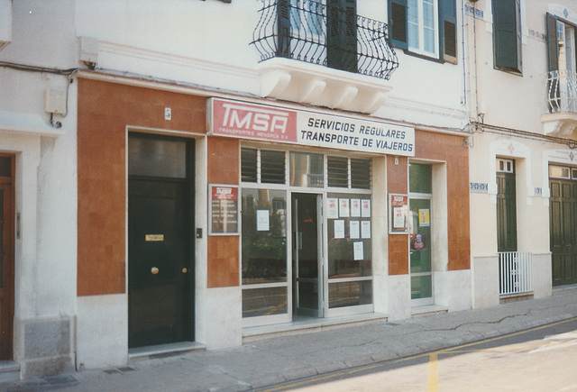 Transportes Menorca Bus Office, Mahon (Maó) - Oct 1996 337-05