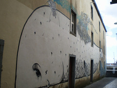 The whale mural.