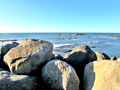 Rocks On Sea Front.
