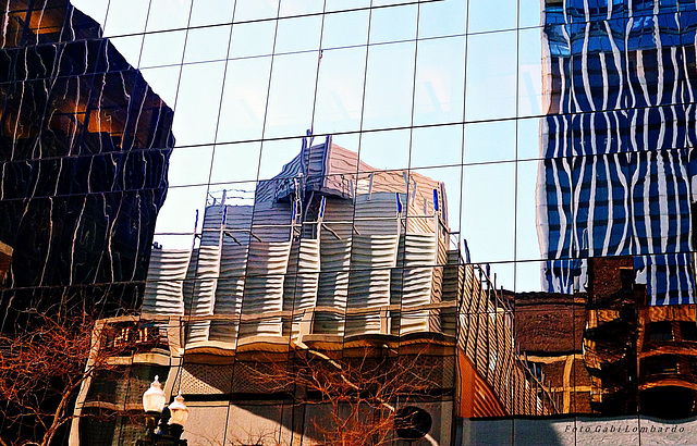 reflected city (Chicago)