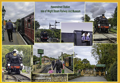 A Collage of Haven Street Station Isle of Wight Steam Railway