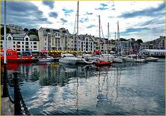 Alesund : il porto turistico - (567)