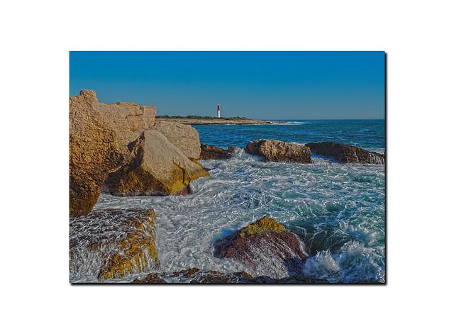 Le phare de la pointe riche à Martigues.