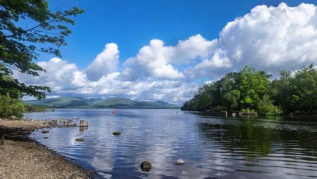 Outflow of Loch Lomond into the River Leven