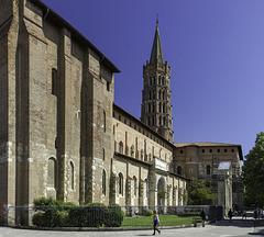 TOULOUSE (France), la Basilique Saint Sernin.