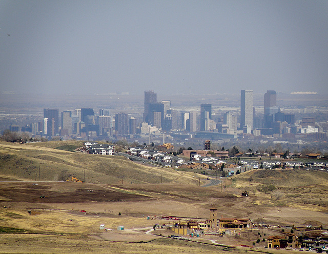Downtown Denver from Red Rock