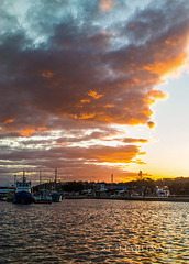 Lakes sunset