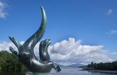 Otter Statue by Laurence Broderick, Drumkinnon Bay, Loch Lomond Shores, Balloch
