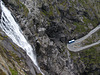 The Trollstigen Road and Stigfossen Waterfall